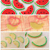 Watermelon (shaped) Cookies