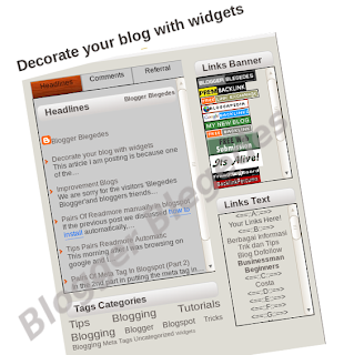 Decorate blog