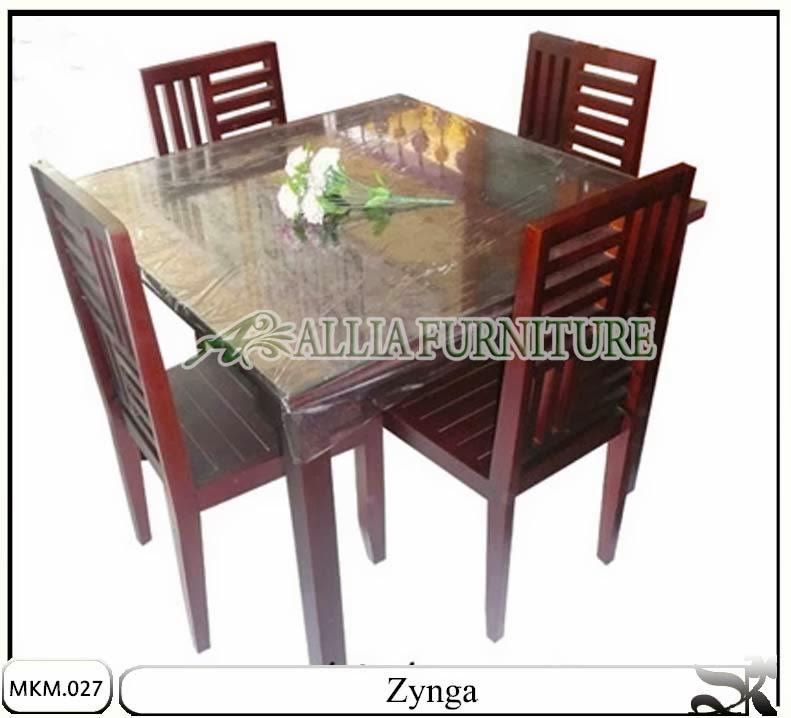 Meja makan model minimalis set zynga