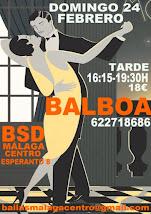 FEBRERO DOMINGO 24 BALBOA, TODA UNA TARDE APRENDIENDO A BAILAR BALBOA. EN BSD BAILAS MÁLAGA CENTRO.