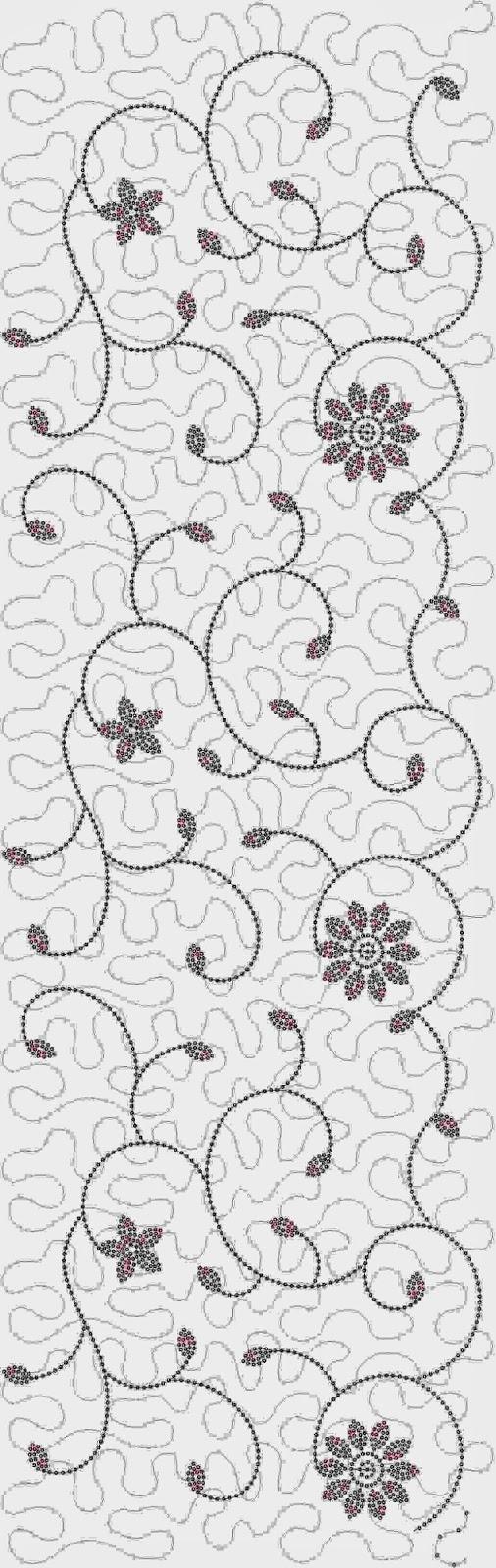 threadelight borduurwerk Oral patroon