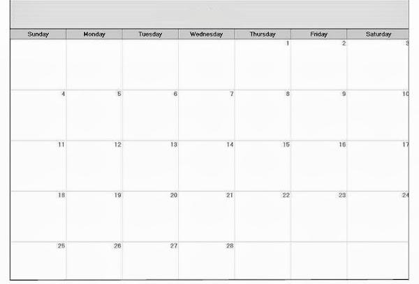 Printable Blank Calendar Templates Free