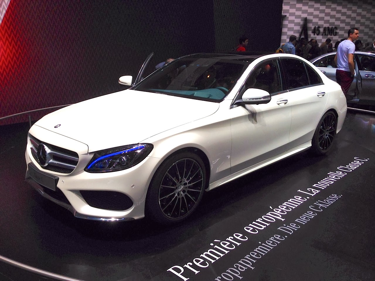 The new Mercedes C Class was on display at Geneva