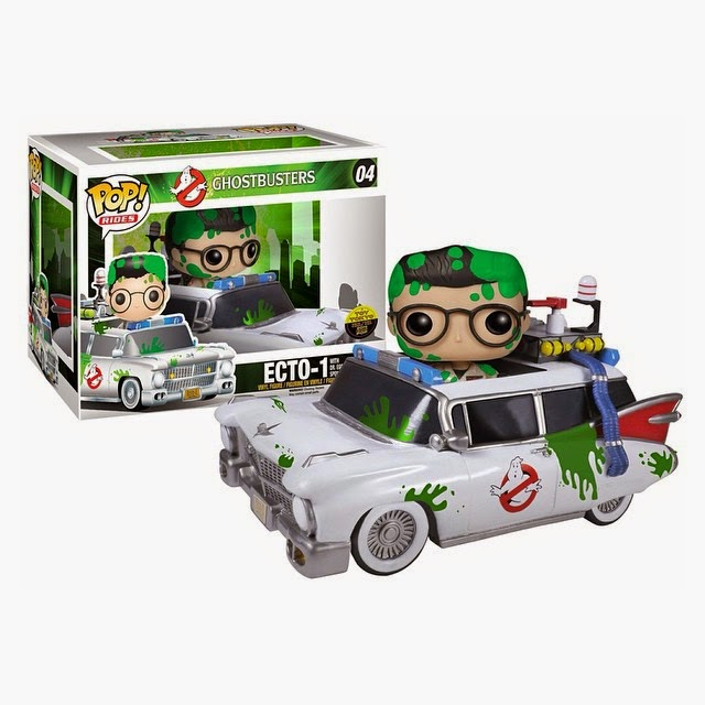 New York Comic Con 2014 Exclusive Slimed Ecto-1 Ghostbusters Pop! Ride with Slimed Dr. Egon Spengler Pop! Movies Vinyl Figure by Funko