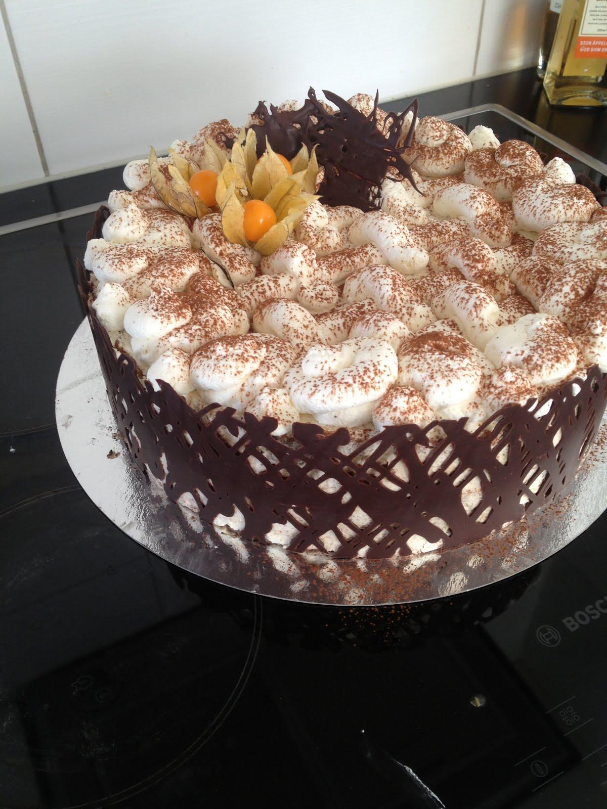 gräddtårta med choklad