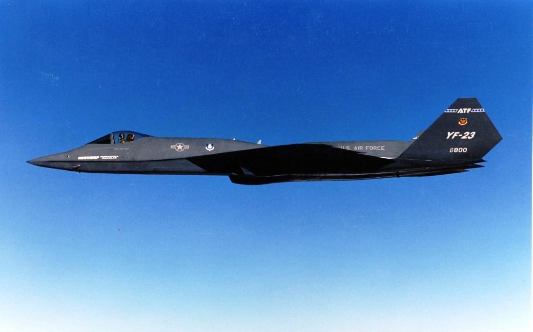 YF-23 Black Widow II jet fighter wallpaper 2