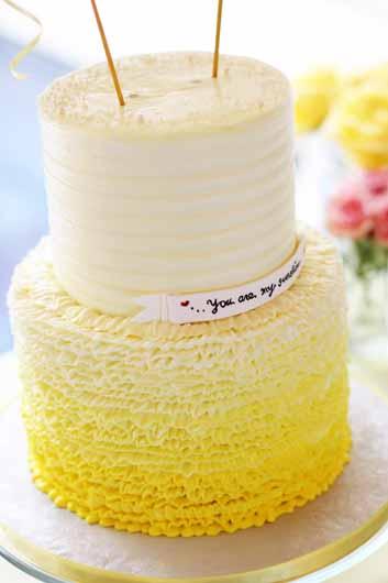 Elianas Ombre Ruffle Cake A Cake Life