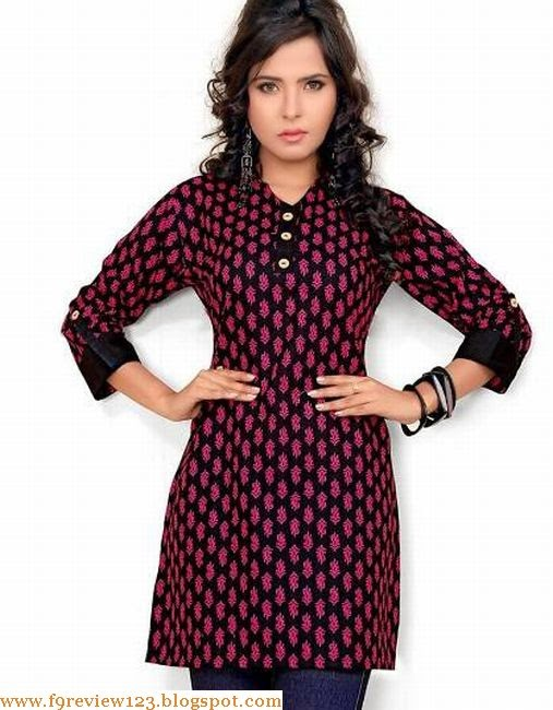 CBazaar Kurti With Jeans Fashion Designs 2014-15 For Young Girls