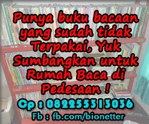 Donasi Buku Untuk Rumah Baca