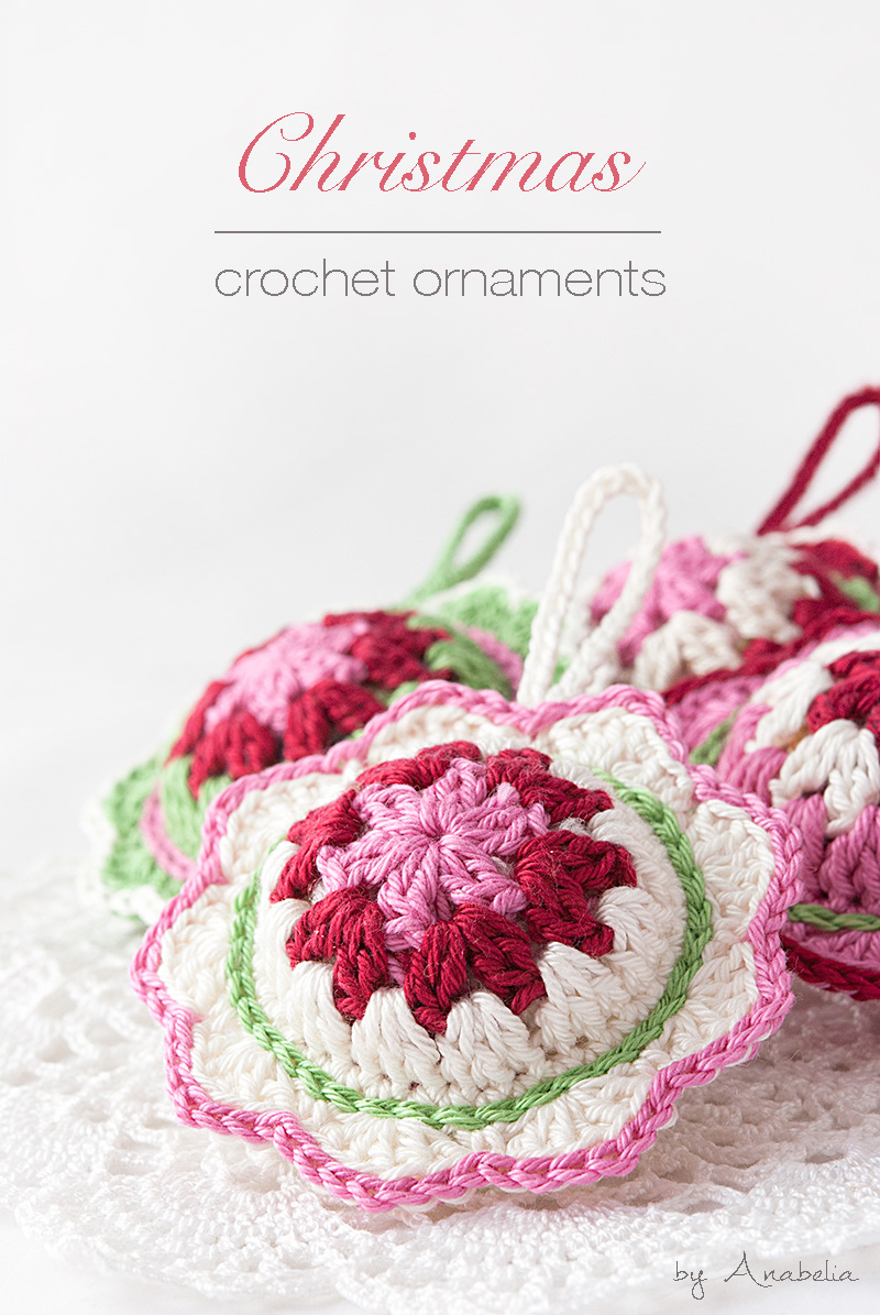 New Christmas Crochet Ornaments Pattern Anabelia Craft Design Flower Motif Motivos Hexagonales Pinterest