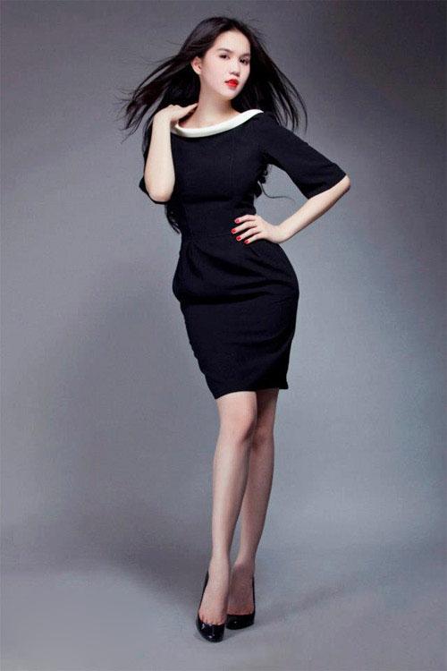 thoi trang cong so chiếc váy ôm sát body chuẩn của Ngọc Trinh