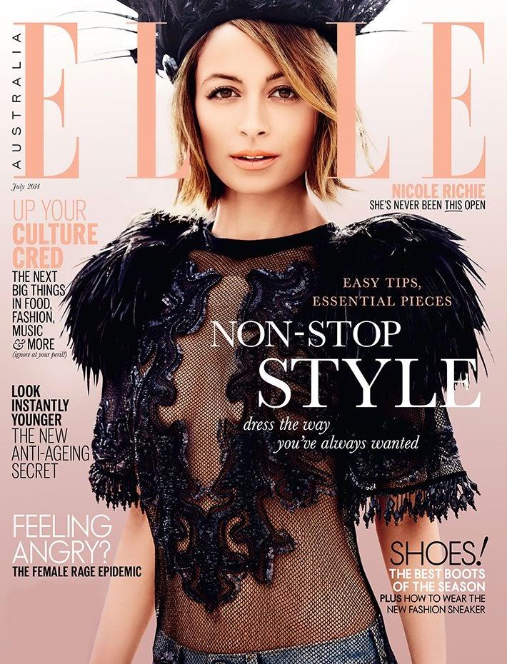 Nicole Richie's cover for Elle Australia July 2014