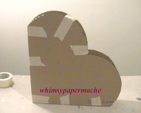 a candy heart to cut out for valentine's day - whimsy paper mache how to make a paper mache big