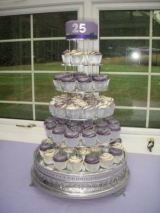 bolo de bodas de prata para a festa de 25 anos de casamento