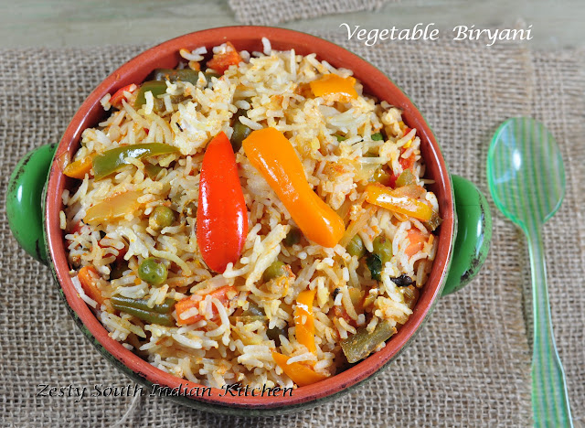 Vegetable Biryani Biriyani An Easy Way Zesty South Indian Kitchen