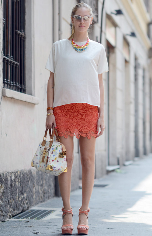 Kate Coral Lace Skirt