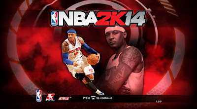 NBA 2K14 Knicks' Melo Game Cover
