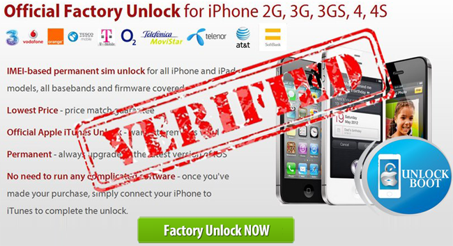 Official iPhone Unlock 4, 4S, 5
