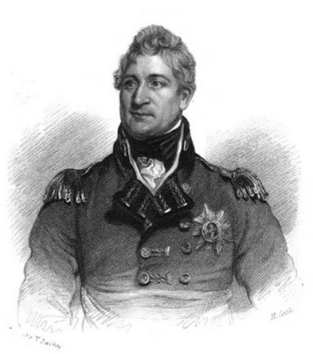 Lieutenant-General Sir Thomas Picton  - one of the officers who died at the Battle of Waterloo  from The Life of Field-Marshal His Grace the Duke of Wellington  by WH Maxwell (1852)