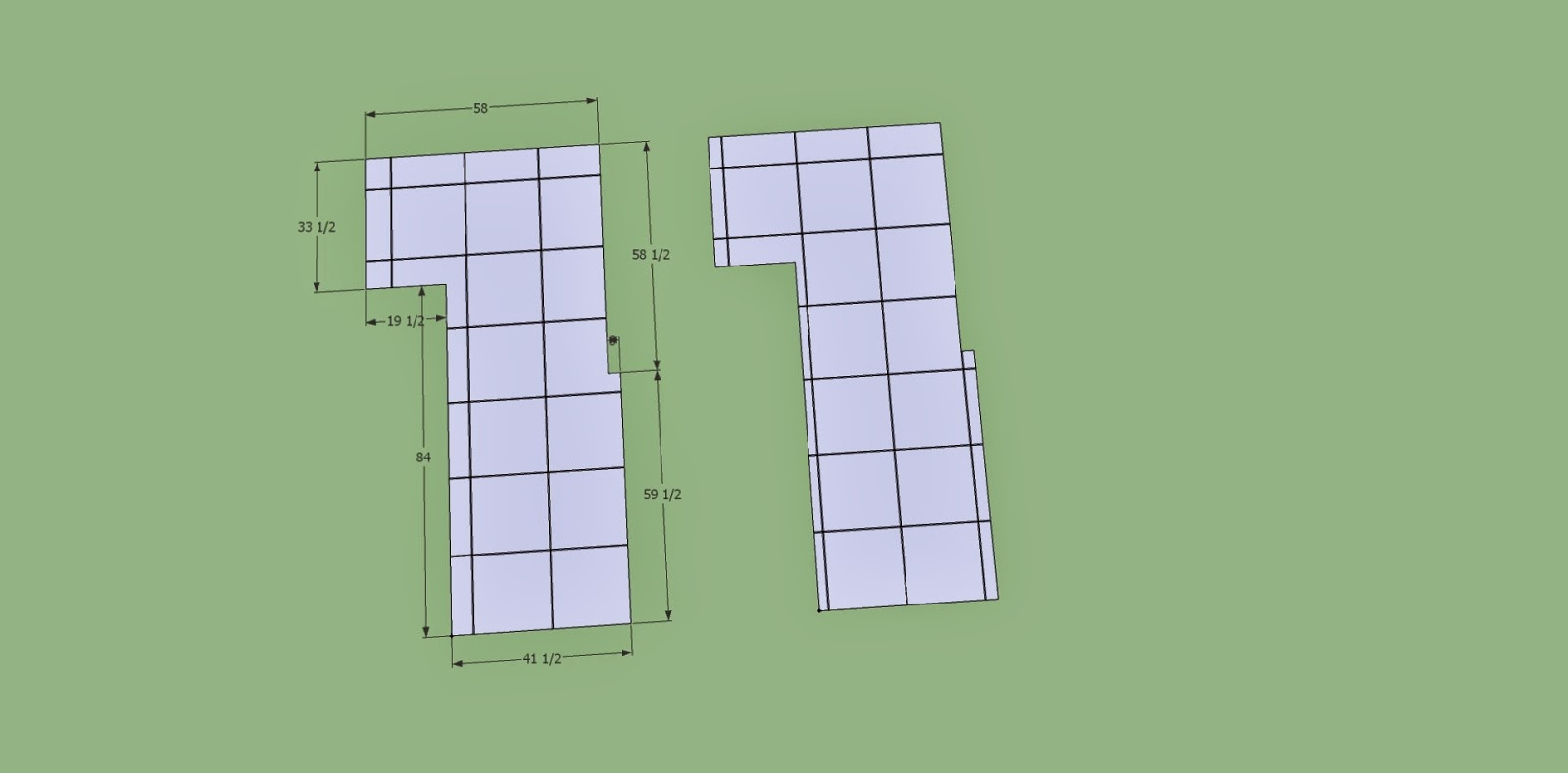 how to cut through a row of materials in sketchup