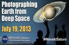 La NASA tomará fotos de la Tierra y de Saturno hoy y mañana, e invita a las personas a tomar sus propias fotos