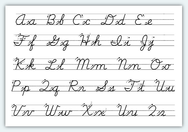 writing in cursive for kids