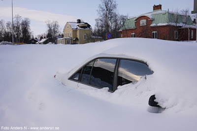 parkering, bil i snö, parking, winter, vinter, car in snow