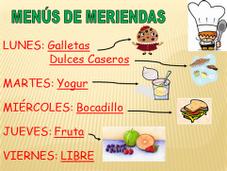 MENÚ MERIENDAS