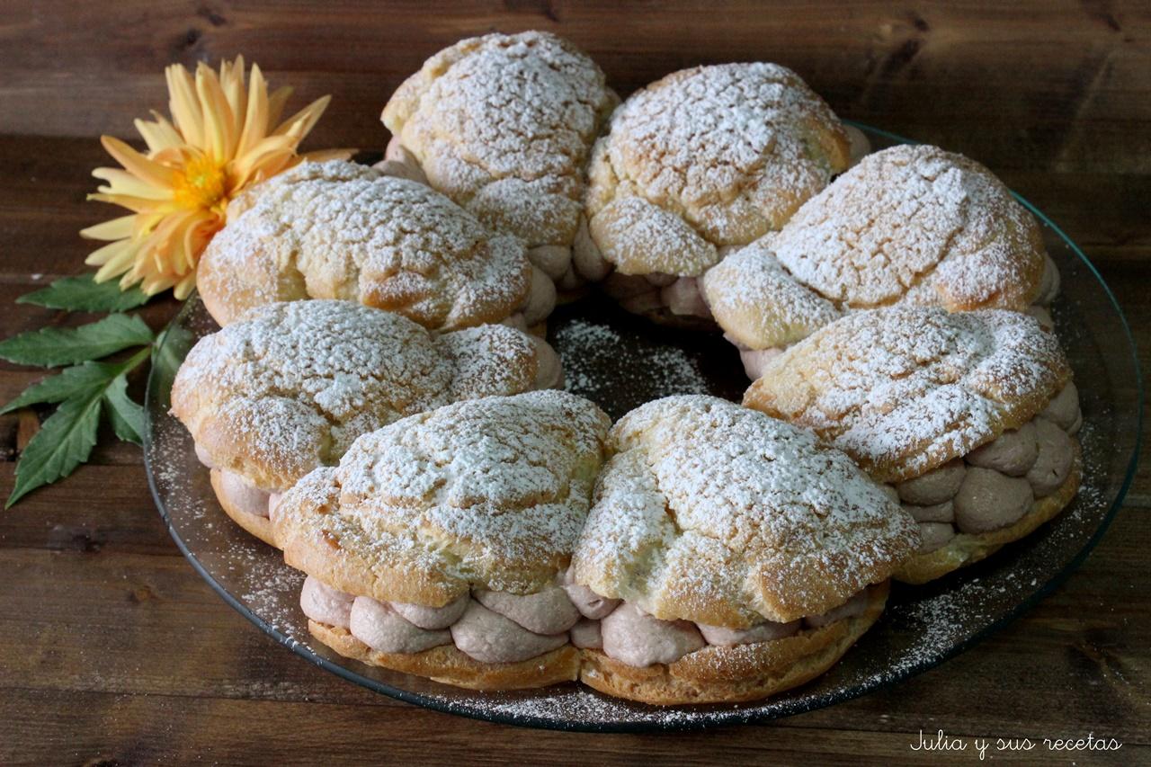 Julia y sus recetas tarta paris brest con crujiente de for Entrantes tipicos franceses
