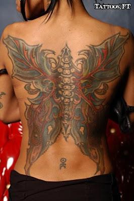 tattoos com Borboleta nas Costas enteira
