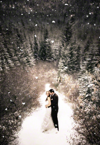 Magical Celebrity Wedding Destinations Mountain Winter Top Destination Photographers