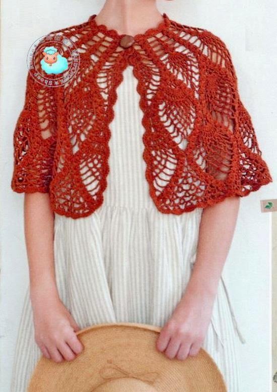 Crochet Shawls Crochet Capelet Pattern Beautiful Pineapple