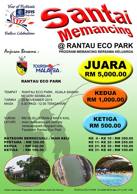 Santai Memancing @Rantau Eco Park bersama keluarga 29 Nov 2015