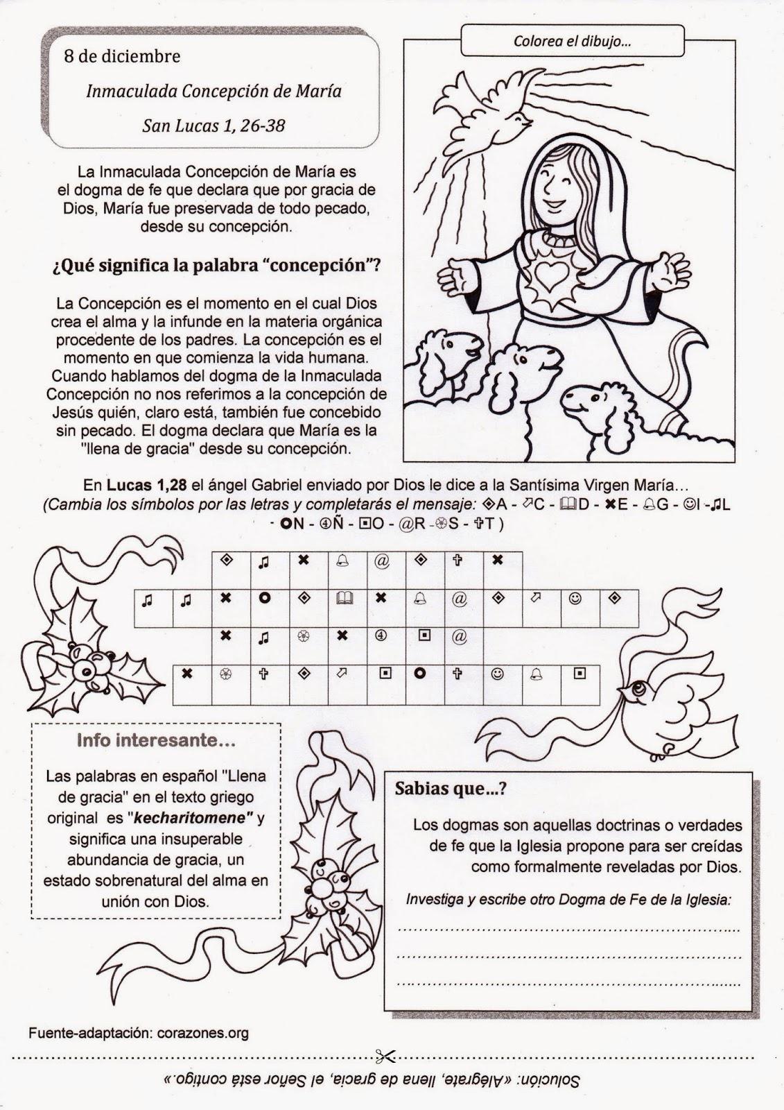 El Rincón de las Melli: Inmaculada Concepción de María
