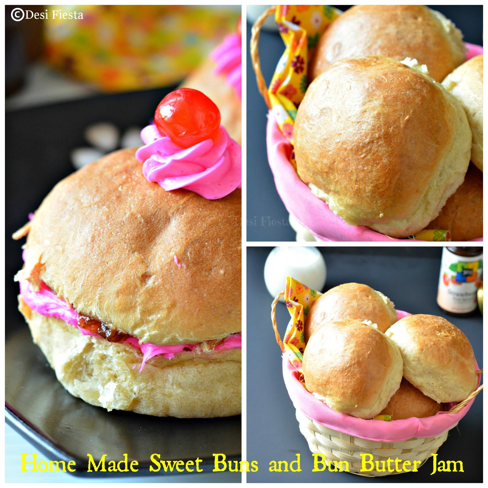Buns and bun butter jam