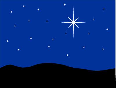 christmas night sky clipart - photo #4