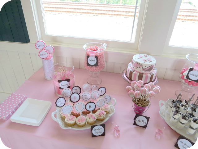 Sweet beginning baby shower sweets table