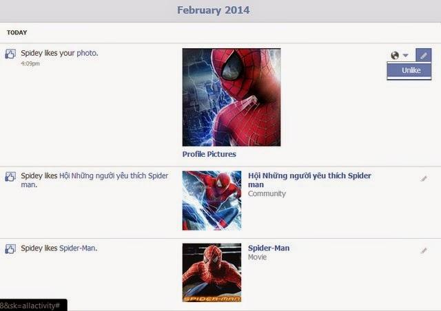 Nếu bạn thấy hình ảnh lạ (hay một liên kết, status lạ,...), bạm bấm Unlike để hủy Like tấm hình đó.