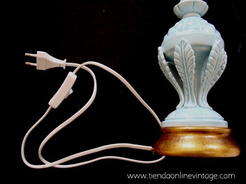 Comprar lámparas de manises en buen estado, restauradas con cable nuevo