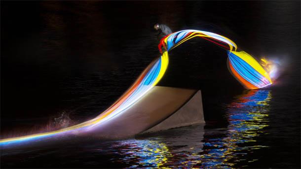 Wakeboard LED's - fotografia de Patrick Rochon