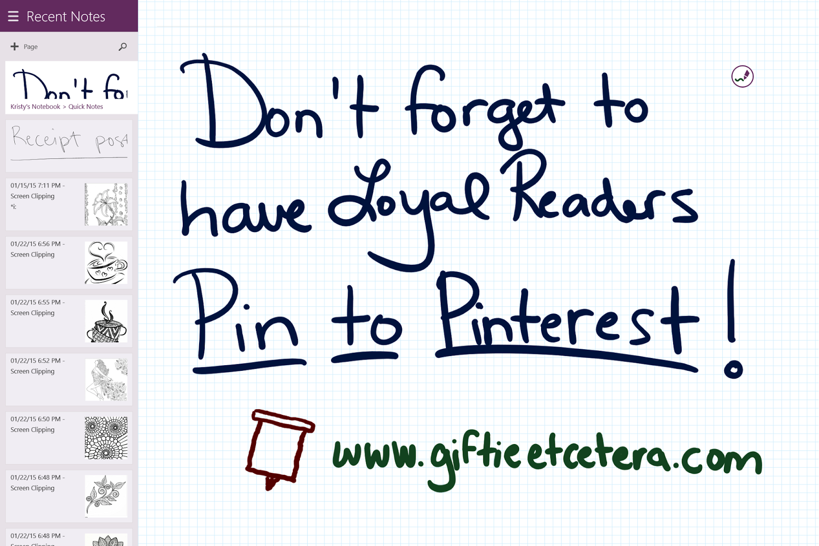 Handwriting Memory Pinterest Surface Pro 3 OneNote
