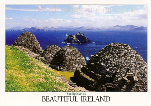 beehive shaped stone dwellings on Skellig Michael