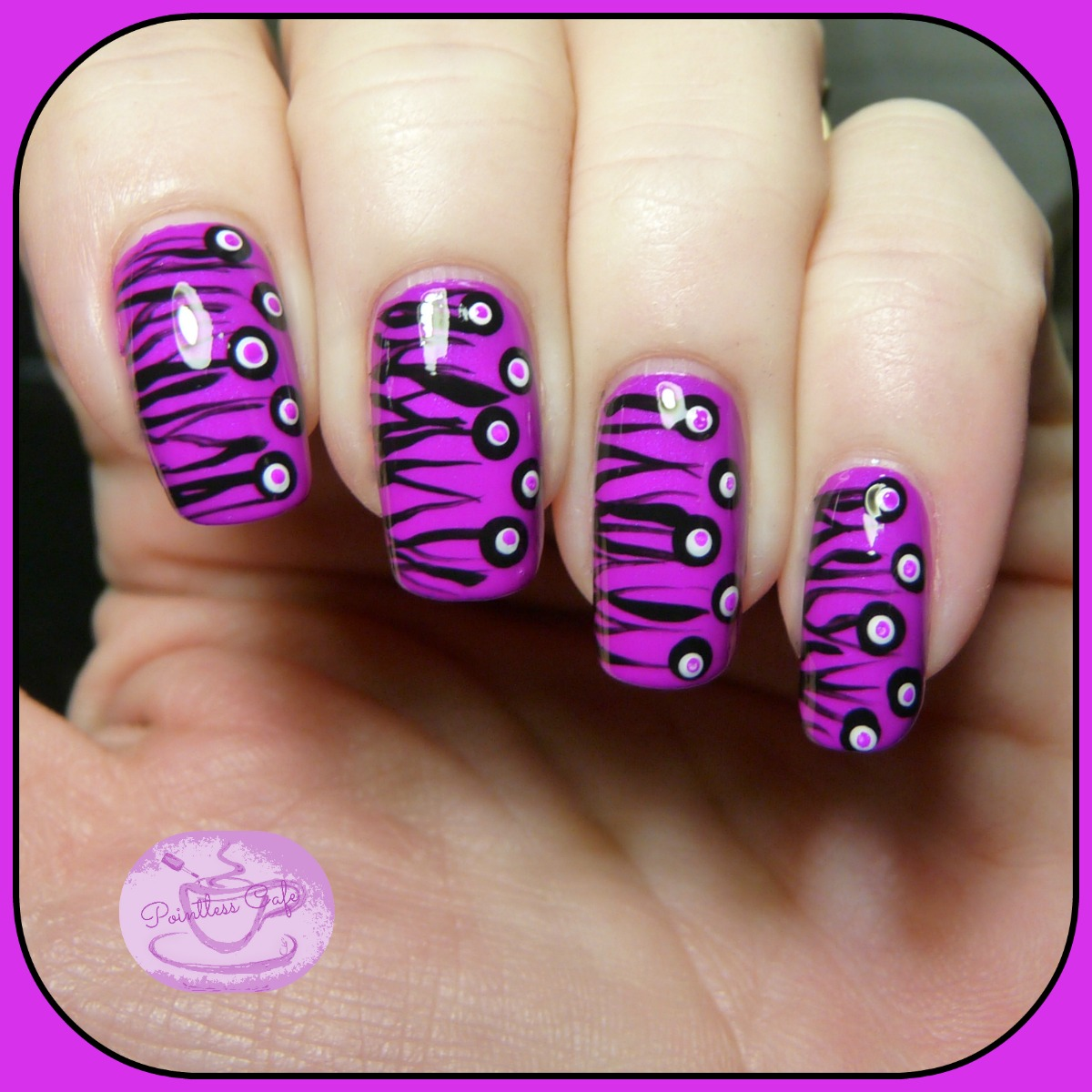 13 Days of January Nail Art Challenge: Half and Half | Pointless Cafe