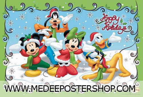 Mickey Mouse Merry Christmas Poster