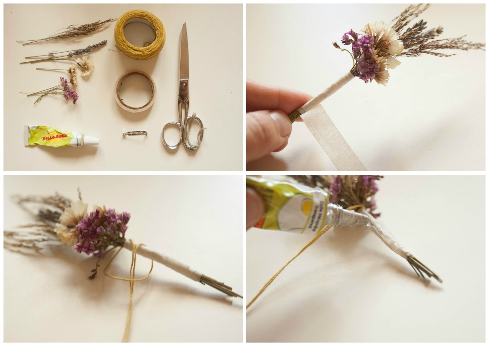 darabil DIY dry flower brooch