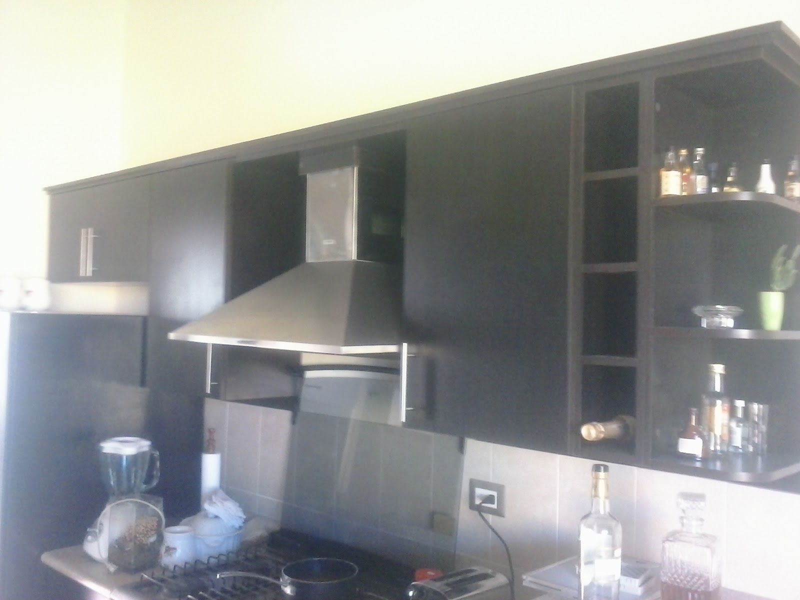 mueble de cocina con botellero y esquinero ~ decormodulos
