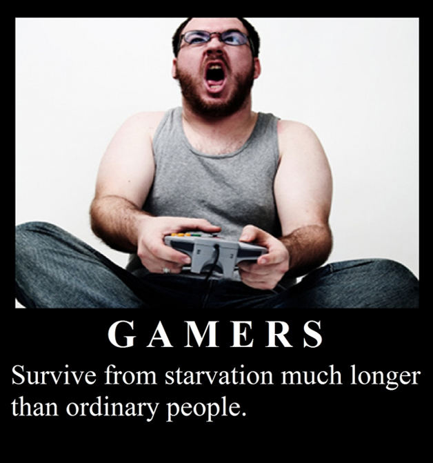 Gamers - Survive From Starvation Much Longer Than Ordinary People