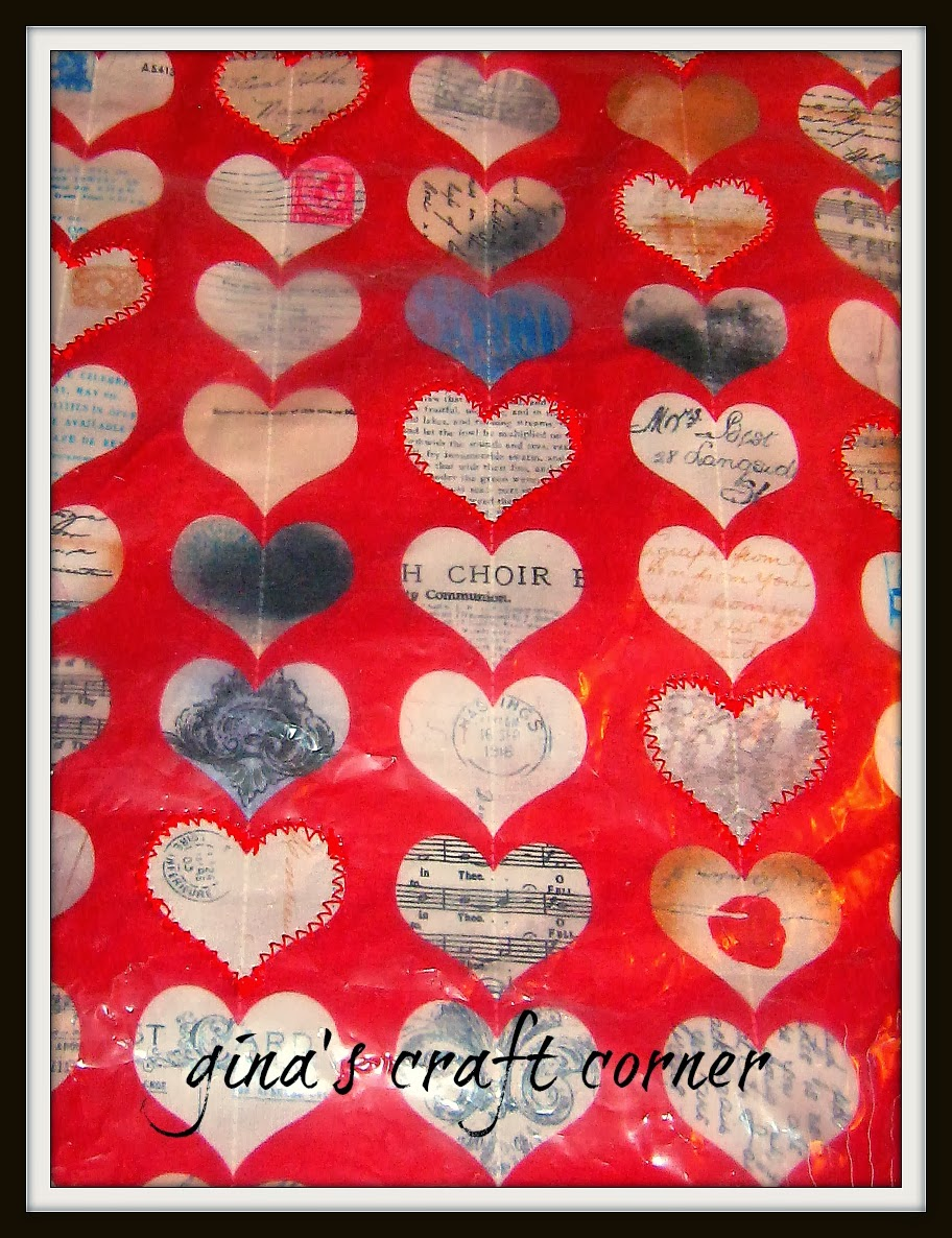 Cereal Bags + Materials = Valentine's Wrapping Paper by Gina's Craft Corner