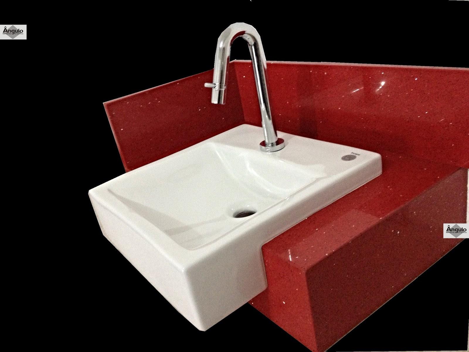 Bancada Banheiro Silestone Vermelho Stellar #020000 1600x1200 Bancada Banheiro Vermelha