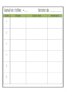 La classe de karine planification et privil ges for Planificateur jardin